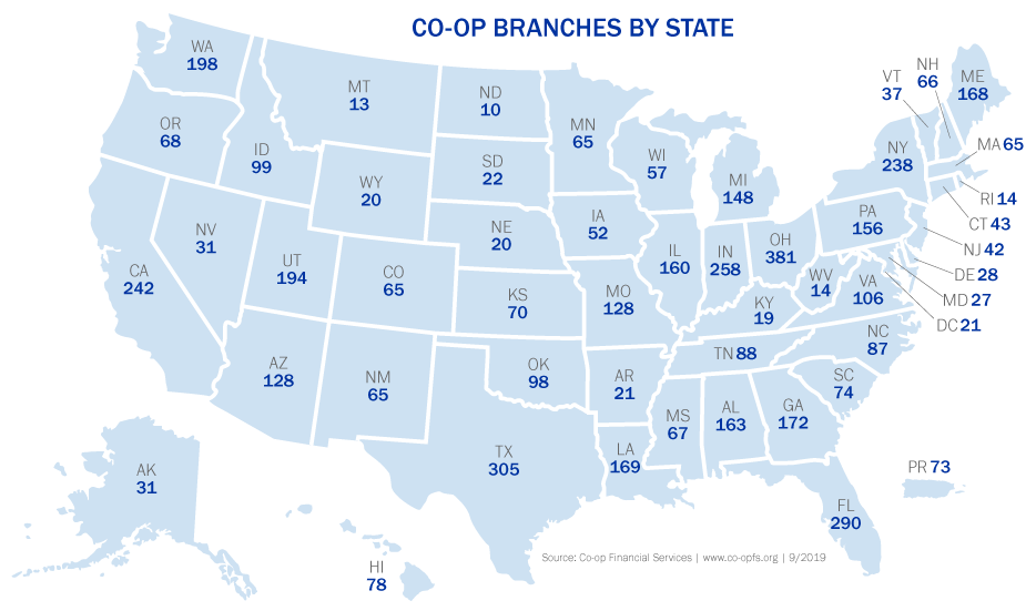 USALLIANCE Co-op Map